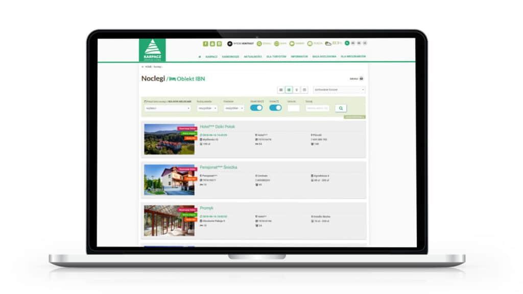 Wyszukiwarka hoteli i miejsc noclegowych na stronie miasta Karpacz